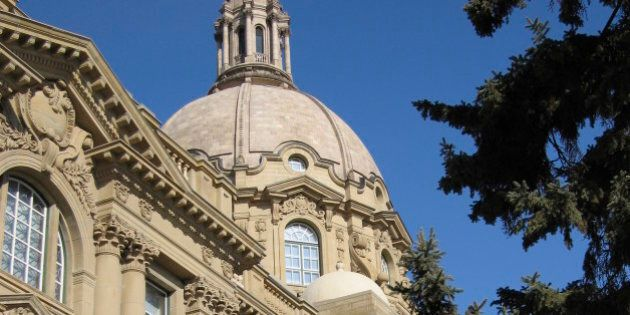 The Legislative Building in Edmonton, Alberta's capital