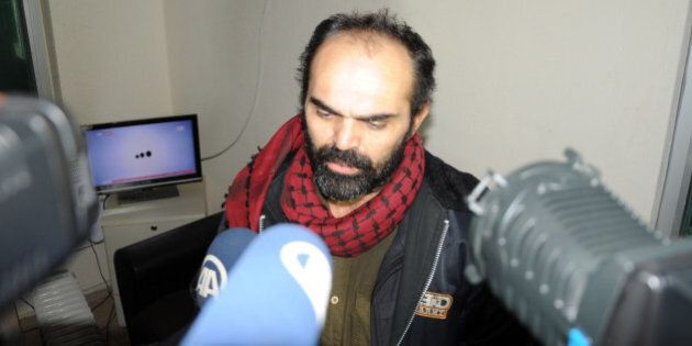 HATAY, TURKEY - JANUARY 5: Kidnapped Turkish photojournalist in Syria released on January 5, 2014. Bunyamin...