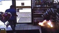 Une caméra filme l'explosion de sa