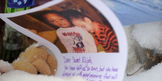 TORONTO, ON - FEBRUARY 21: A morning prayer vigil for Elijah Marsh and his family drew strangers - and...