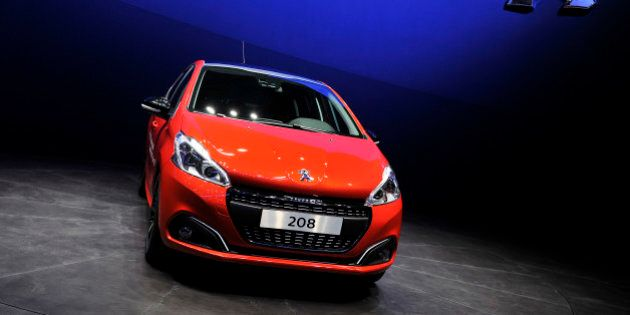 GENEVA, SWITZERLAND - MARCH 03: The new Peugeot 208 is shown during the 85th International Motor Show...