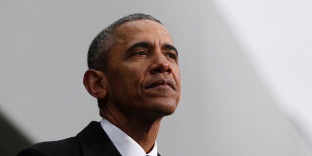BOSTON - MARCH 30: President Barack Obama speaks during a formal ceremony to dedicate the Edward M. Kennedy Institute for the United States Senate in Boston on March 30, 2015. (Photo by Jessica Rinaldi/The Boston Globe via Getty Images)