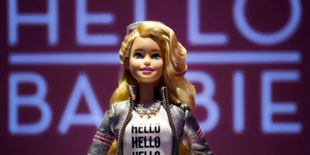 Hello Barbie is displayed at the Mattel showroom at the North American International Toy Fair, Saturday,...