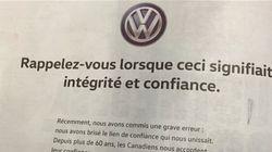 Volkswagen se paie une pleine page de publicité dans les quotidiens