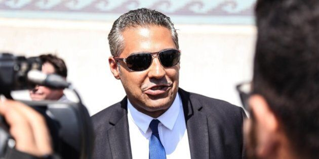 CAIRO, EGYPT - JULY 30: Canadian-Egyptian Al-Jazeera journalist Mohamed Fahmy speaks to reporters outside...