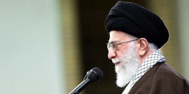 In this Wednesday, Nov. 25, 2015 photo released by an official website of the office of the Iranian supreme...