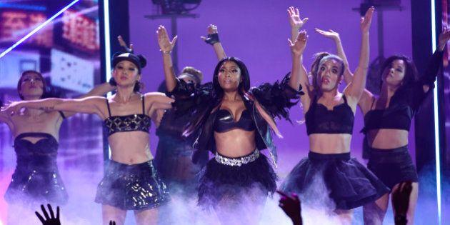 Nicki Minaj performs at the Billboard Music Awards at the MGM Grand Garden Arena on Sunday, May 17, 2015,...