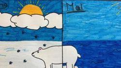 Les enfants imposent leur voix à la conférence de Paris à travers des dessins... et Jean Lemire!