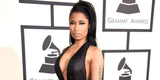 LOS ANGELES, CA - FEBRUARY 08:  Recording artist Nicki Minaj attends The 57th Annual GRAMMY Awards at the STAPLES Center on February 8, 2015 in Los Angeles, California.  (Photo by Jeff Vespa/WireImage)
