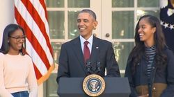 La blague d'Obama pour «Thanksgiving» fait rigoler ses filles