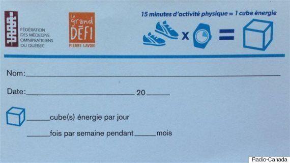 Les médecins du Québec peuvent maintenant prescrire de l'activité physique