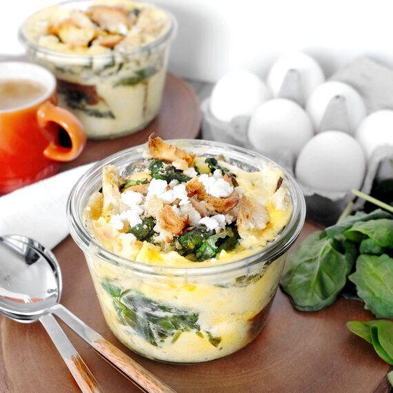 Recette nutritive de strata au fromage feta et chou