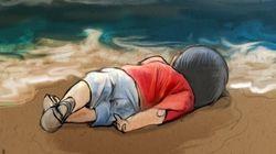 La mort d'Alan Kurdi fait réagir des artistes sur les réseaux sociaux