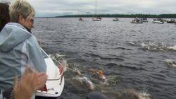Xavier Desharnais remporte la Traversée internationale du lac Saint-Jean