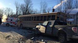Accident impliquant un bus scolaire: 3 enfants