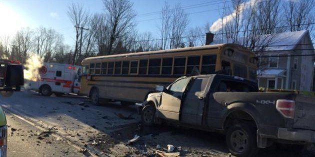 Accident impliquant un autobus scolaire en Estrie : 4