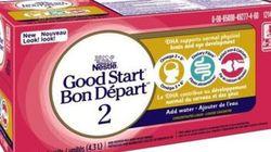 Nestlé: rappel de préparations Bon Départ