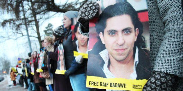 Demonstration outside the Embassy of Saudi-Arabia, Helsinki,