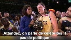 On ne parle pas politique au All-Star Game (le chanteur de Arcade Fire l'a appris à ses