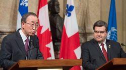 Montréal: Ban Ki-moon lance une flèche au gouvernement