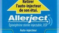Rappel d'auto-injecteurs Allerject pour