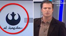 Il confond le logo d'Al-Qaïda avec celui de l'alliance rebelle de Star Wars