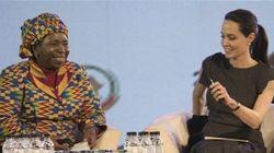 Angelina Jolie enjoint les chefs d'État africains à punir les