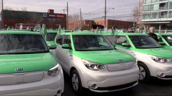 Lancement des taxis électriques à Montréal: «On va faire qu'une bouchée d'Uber» dit le dragon Alexandre...