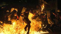 Grèce: violente manifestation avant le début du vote au Parlement
