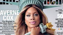 «Orange is the New Black»: l'actrice transgenre Laverne Cox en Statue de la liberté