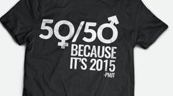 Les libéraux vendent des t-shirts avec la phrase de Trudeau «Because it's