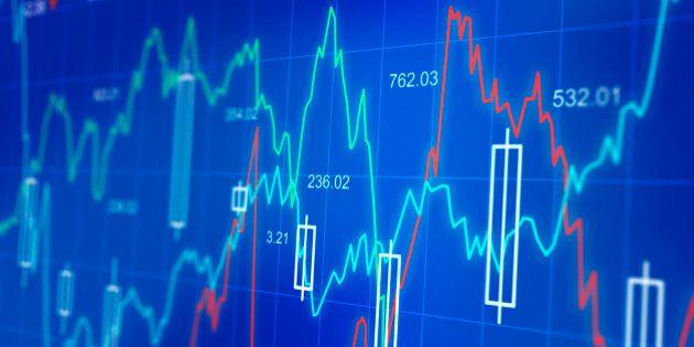 Financial diagrams on a computer screen