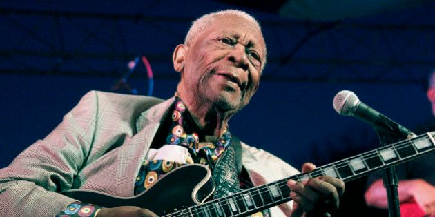 FILE - In this file photo taken Aug. 22, 2012, B.B. King performs at the 32nd annual B.B. King Homecoming,...