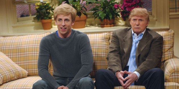 SATURDAY NIGHT LIVE -- Episode 16 -- Air Date 04/03/2004 -- Pictured: (l-r) Seth Meyers as Peter Fleck,...