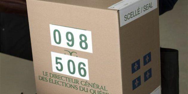 4 partielles lundi au Québec: 6,7 pour cent des 191 000 électeurs ont déjà