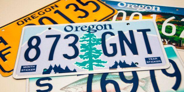 Oregon license plate