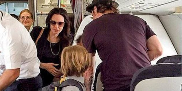 Brad Pitt, Angelina Jolie et leurs enfants ont fait un vol Paris - Nice en classe