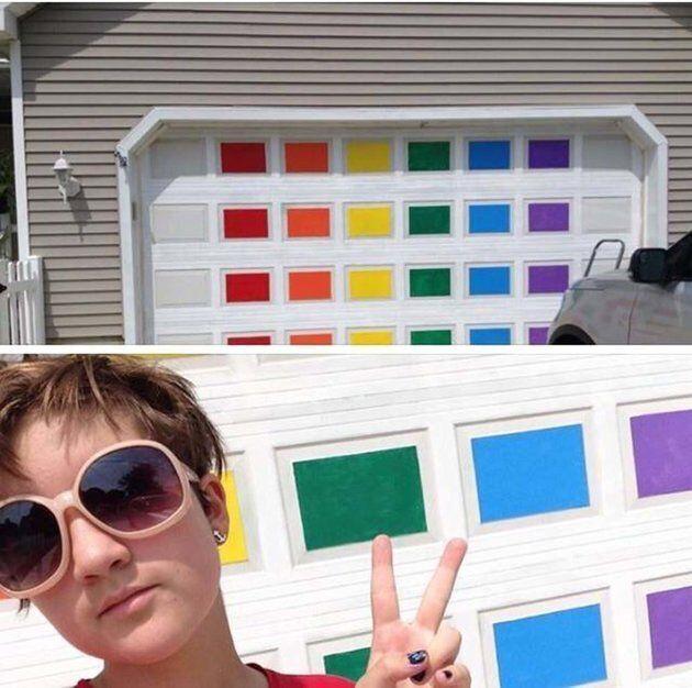 Homophobie: la réponse intelligente d'une mère face à un acte de vandalisme