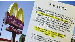 Dans un McDo français, «interdit de procurer de la nourriture aux