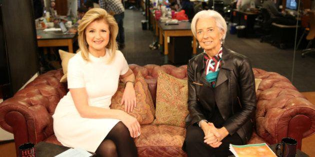 Christine Lagarde optimiste pour la Grèce dans une interview avec Arianna Huffington
