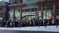 Manifestations et occupations à Montréal contre