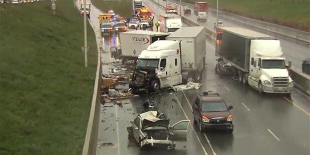 Un carambolage sur l'autoroute 30 fait des blessés
