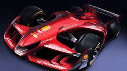 Ferrari diffuse le visuel de la voiture qui pourrait être l'avenir de la