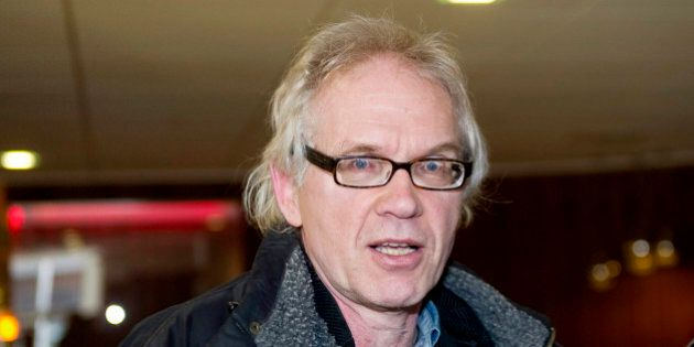 Swedish artist Lars Vilks arrives to meet journalists after apperaring on the TV4 morning news show in...