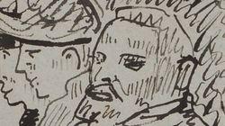Un nouveau croquis de Vincent Van Gogh (avec ses deux oreilles) découvert dans un
