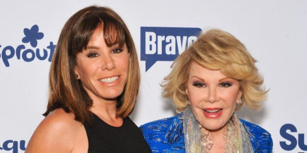 NEW YORK, NY - MAY 15: Joan Rivers (R) and daughter Melissa Rivers attend the 2014 NBCUniversal Cable...