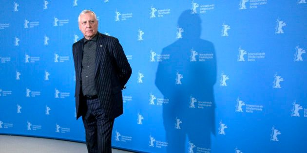 Director Peter Greenaway poses for photographers at the photo call for the film Eisenstein in Guanajuato...
