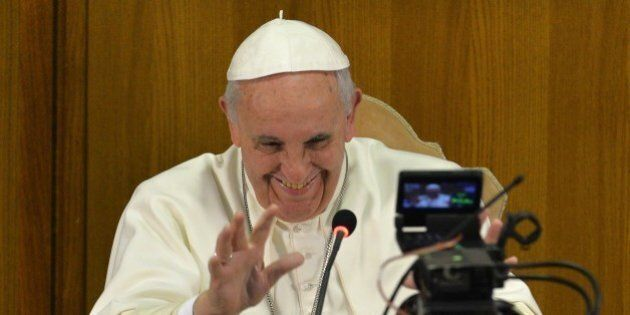 Pope Francis takes part in a video conference to mark the end of the IV Scholas Occurrentes World Educational...
