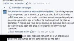 Sur Facebook, la SAAQ se porte à la défense des cyclistes avec