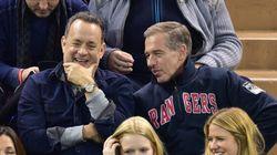 Tom Hanks au match des Rangers... avec